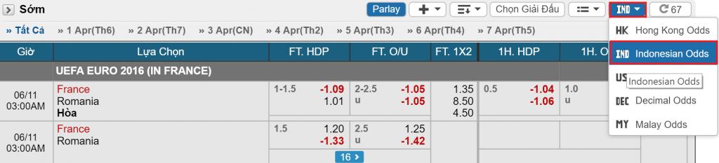 Odds Indo trong cá độ bóng đá  Phân biệt các tỷ lệ Odds phổ biến: Malay, Hong Kong, châu Âu Odds indo