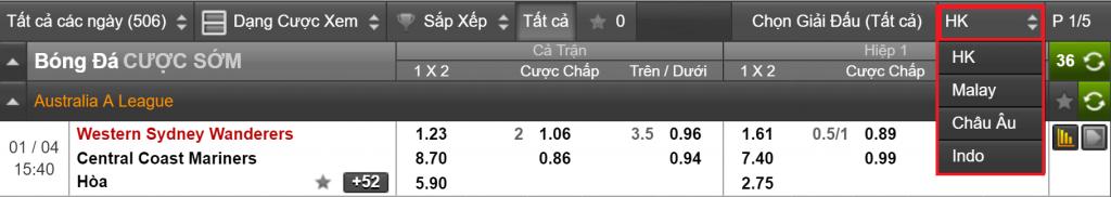 Tỷ lệ Odds cá độ 188Bet  Hướng dẫn cách xem tỷ lệ kèo, ý nghĩa các tỷ lệ cược chấp ty le odds 188bet